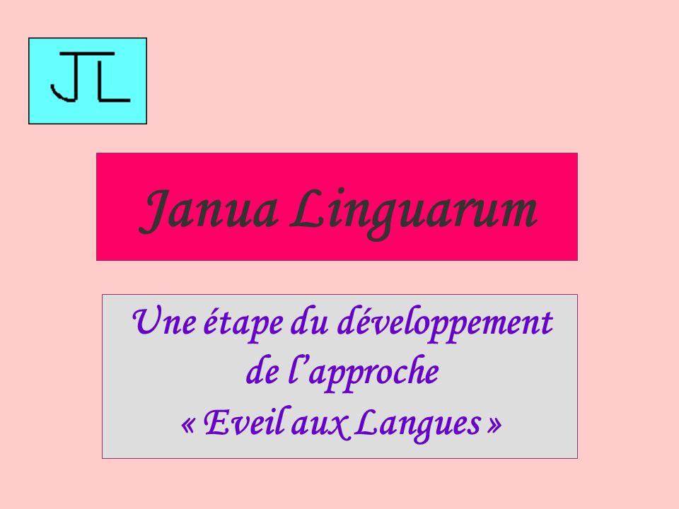 Janua Linguarum Une étape du développement de lapproche « Eveil aux Langues »