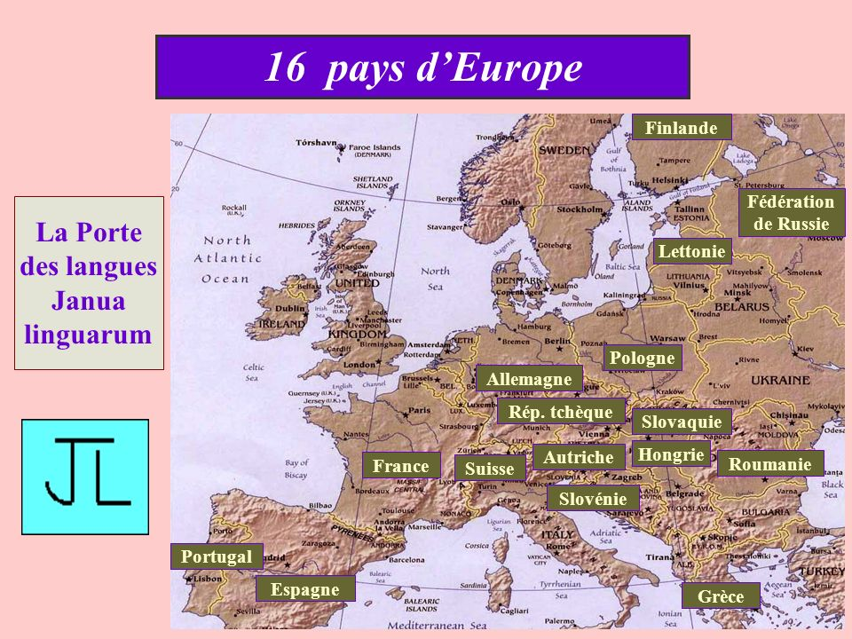 16 pays dEurope La Porte des langues Janua linguarum Allemagne Espagne Fédération de Russie Finlande France Grèce Autriche Hongrie Lettonie Pologne Po