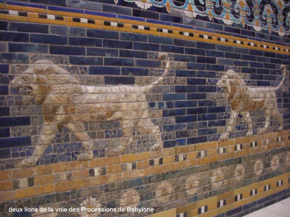 maquette de la porte dIshtar à Babylone