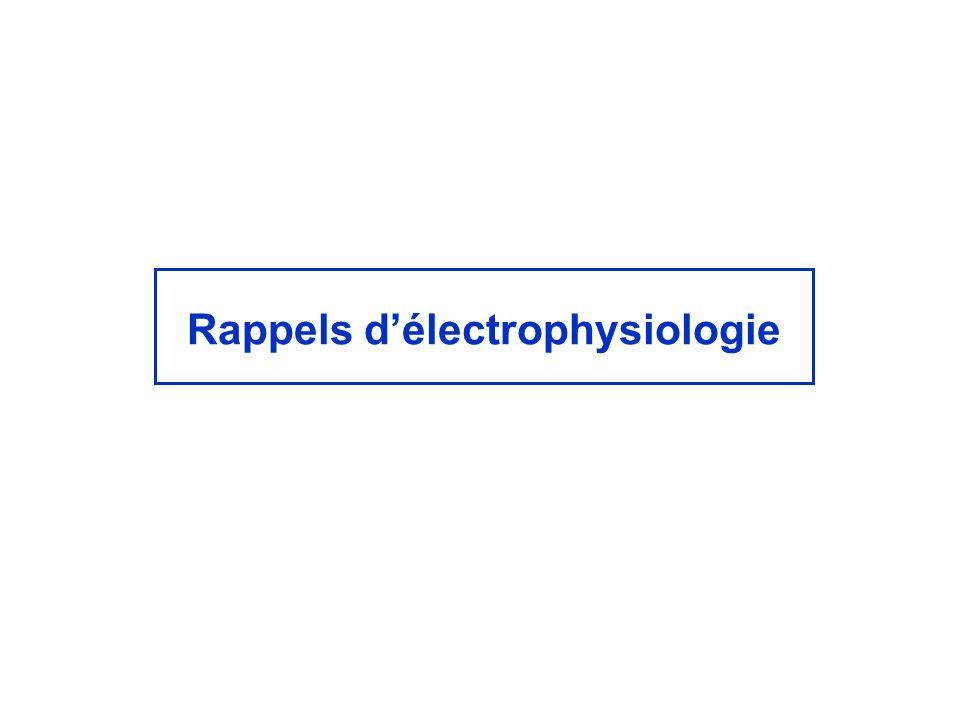 Rappels délectrophysiologie