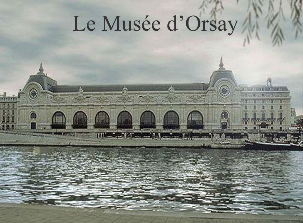 Dans notre visite du musée nous allons voir des tableaux impressionnistes célèbres, des sculptures, des objets dart, des photographies, et quelques aspects de lart officiel de la deuxième moitié du 19e siècle en France.
