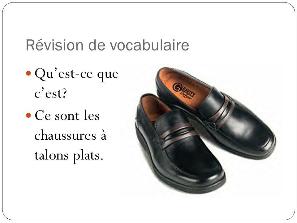 Révision de vocabulaire Quest-ce que cest? Ce sont les bottes.
