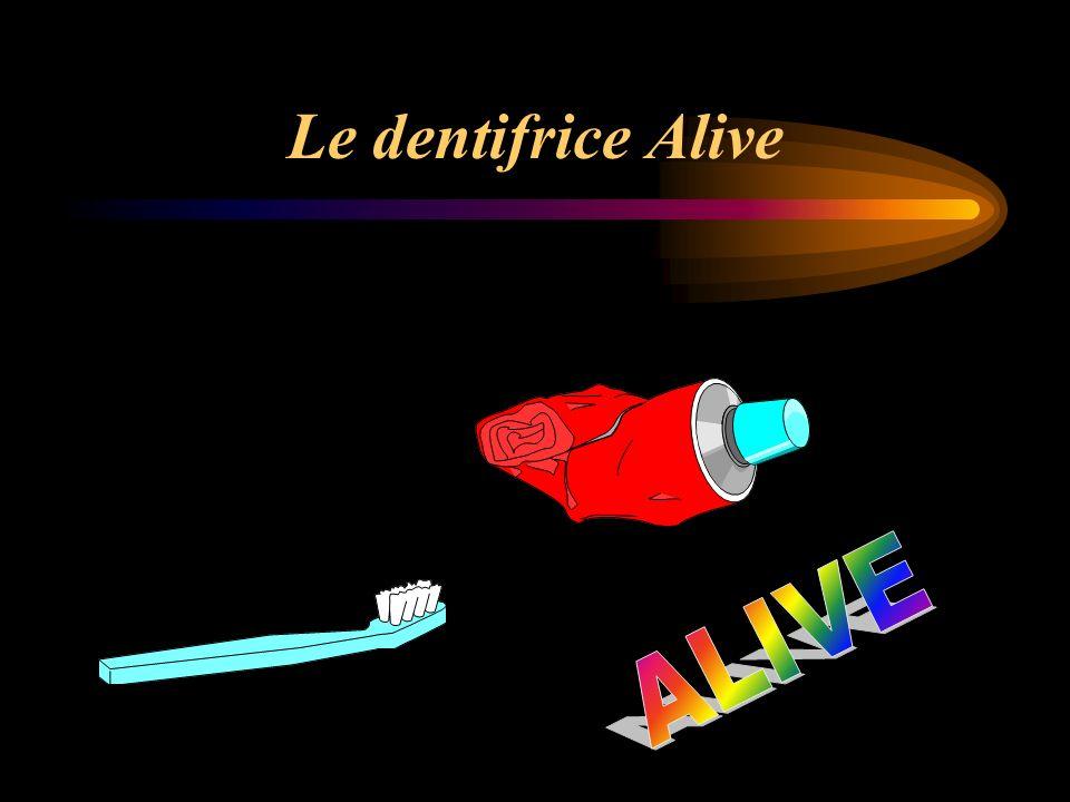 Le dentifrice Alive