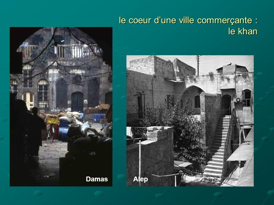 le coeur dune ville commerçante : le khan DamasAlep