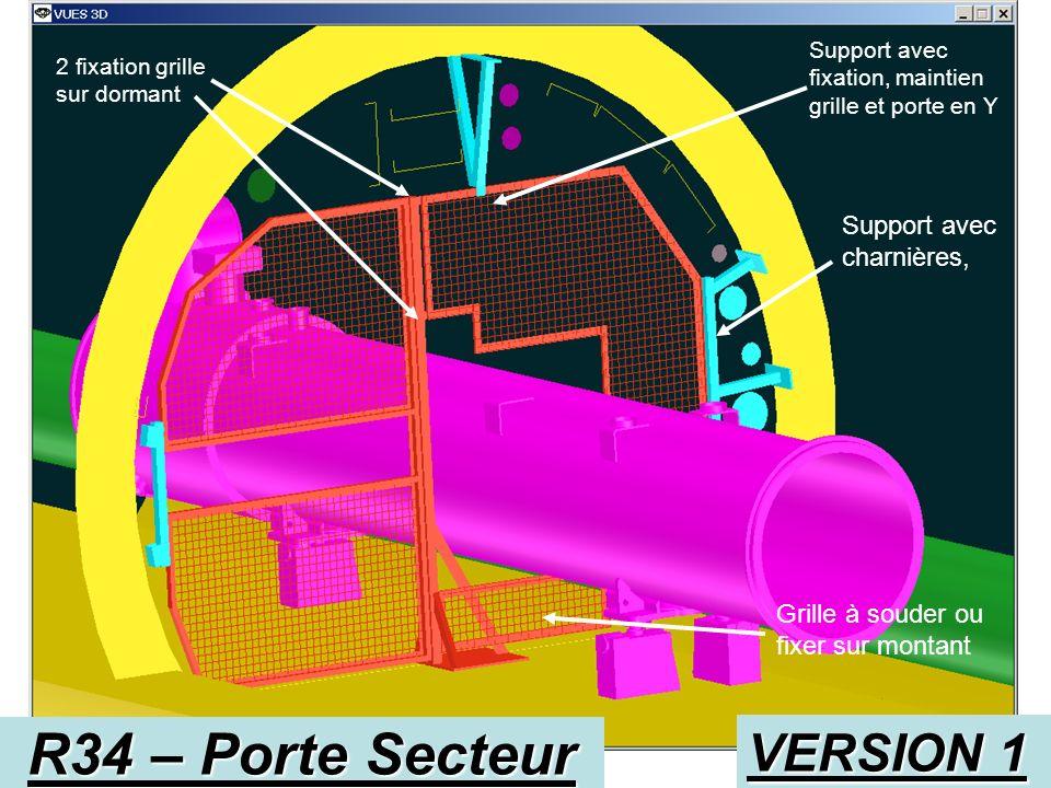 R34 – Porte Secteur Visée géomètre 300x300 Q7 Coté verrou 2 Charnières VERSION 1