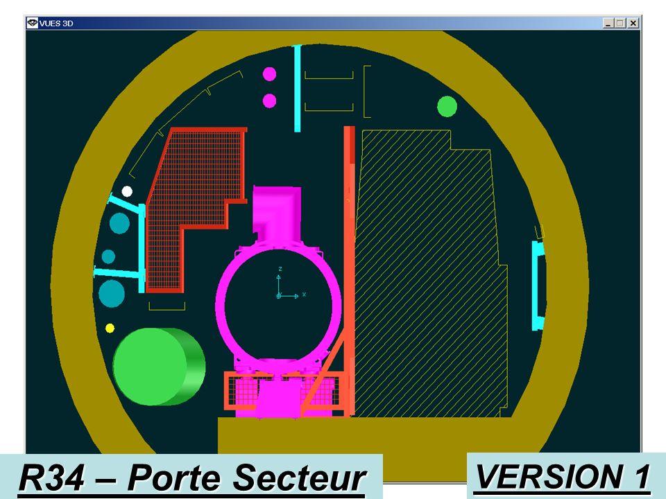 VERSION 2 R34 – Porte Secteur Montant charnière pour grille Montant charnière pour porte Support superieur