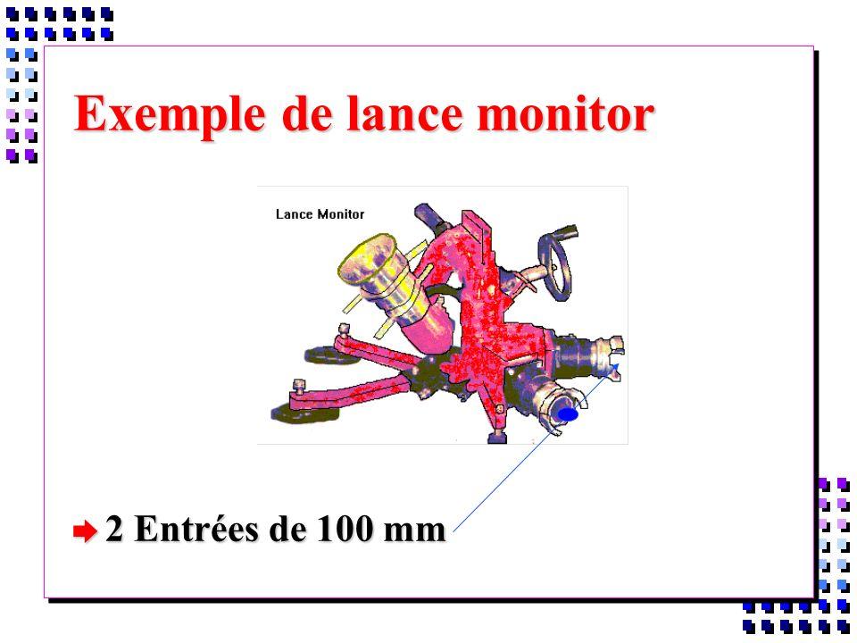 Exemple de lance monitor è 2 Entrées de 100 mm
