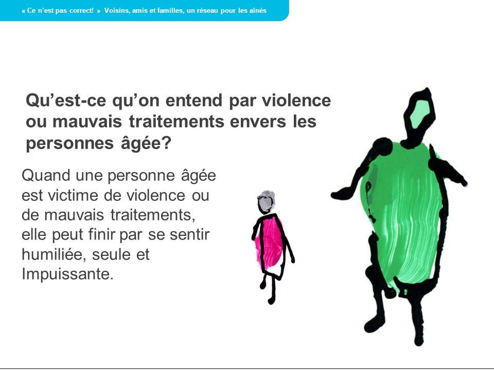 Lâgisme est un facteur de violence.