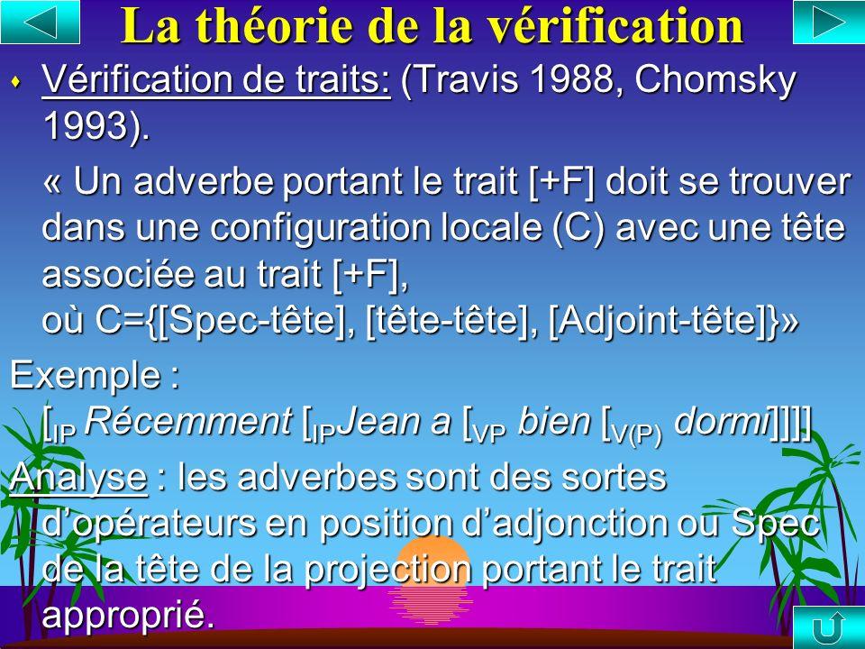 La théorie de la prédication s Prédication : (Williams 1980). « Un prédicat doit être c-commandé (ou m- commandé) par son sujet » Exemple : [ IP Récem