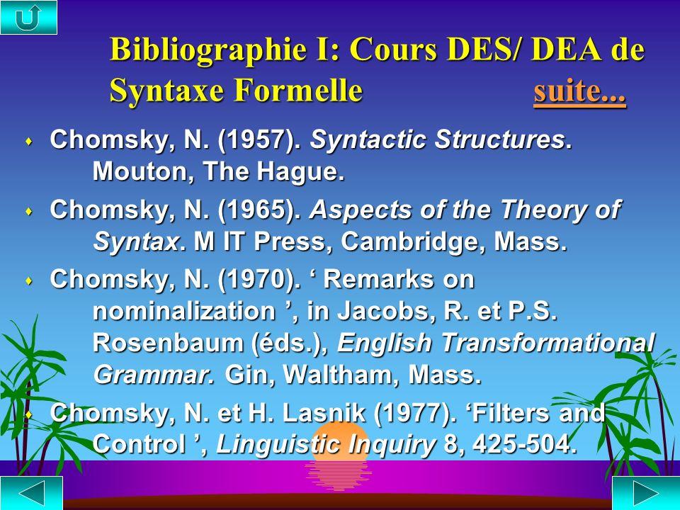 Bibliographie : Lectures conseillées Lectures conseillées Lectures conseillées