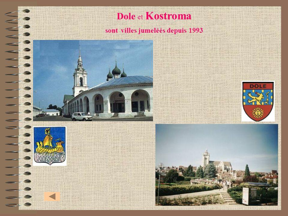 Dole et Kostroma sont villes jumeléés depuis 1993