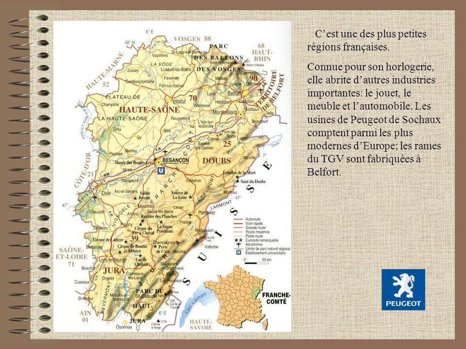 Cest une des plus petites régions françaises. Connue pour son horlogerie, elle abrite dautres industries importantes: le jouet, le meuble et lautomobi