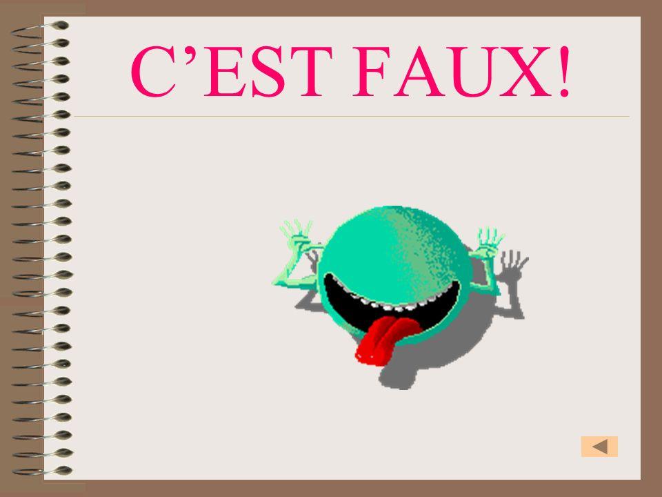 CEST FAUX!