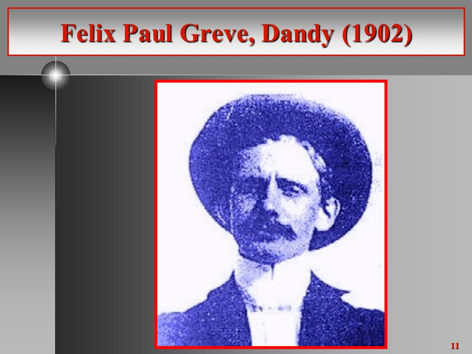 11 Felix Paul Greve, Dandy (1902)