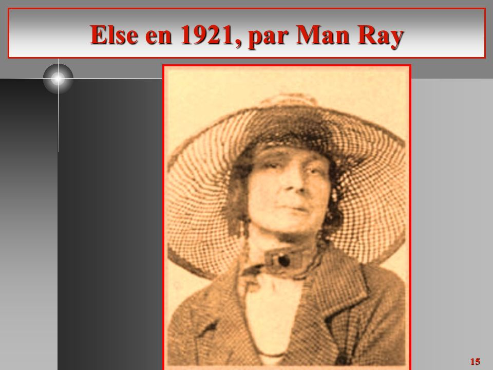 15 Else en 1921, par Man Ray