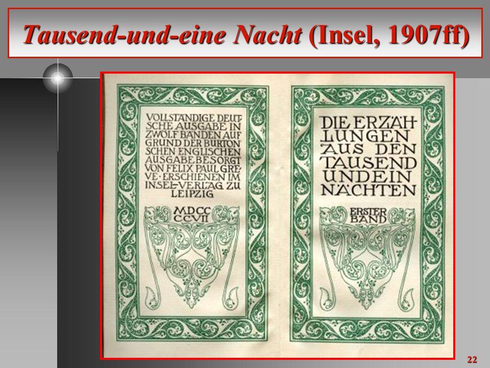 22 Tausend-und-eine Nacht (Insel, 1907ff)