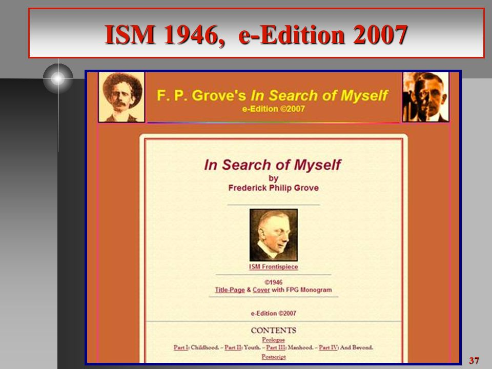 37 ISM 1946, e-Edition 2007