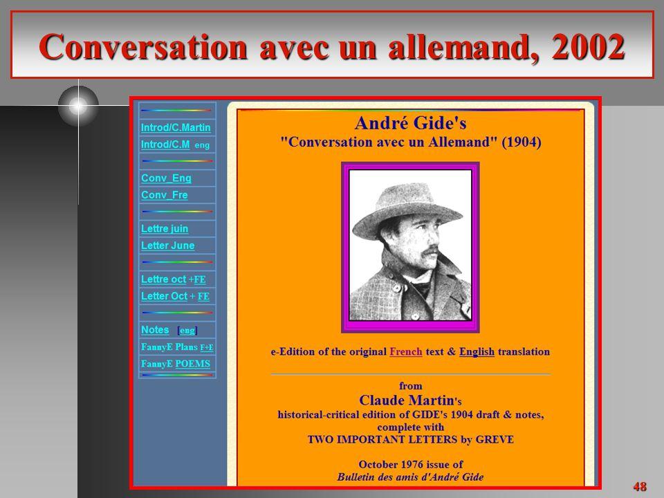 48 Conversation avec un allemand, 2002