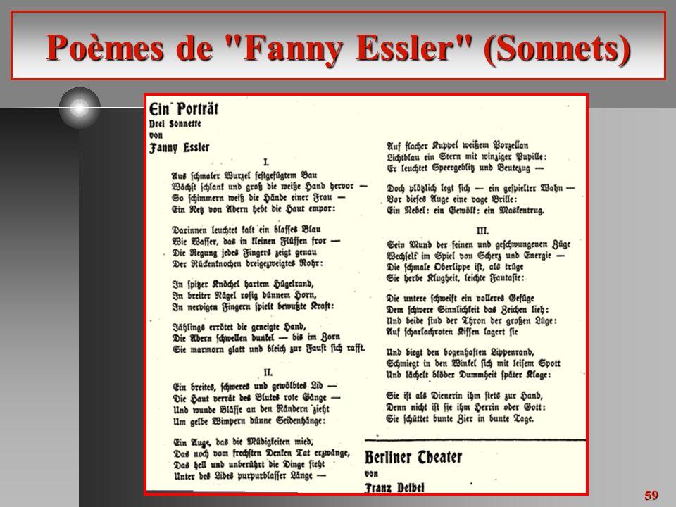 59 Poèmes de Fanny Essler (Sonnets)