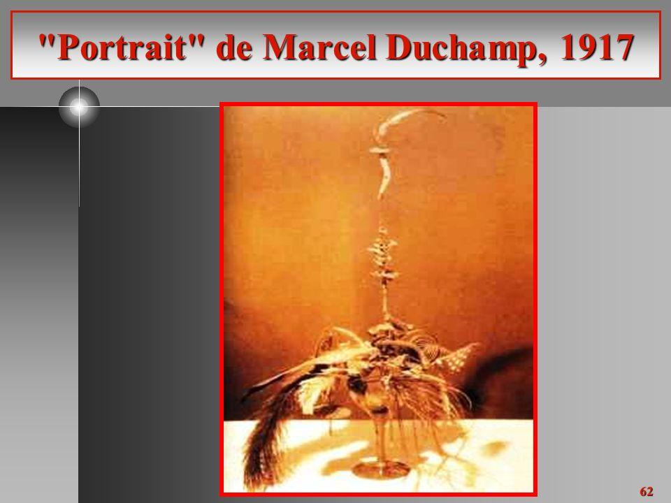 62 Portrait de Marcel Duchamp, 1917