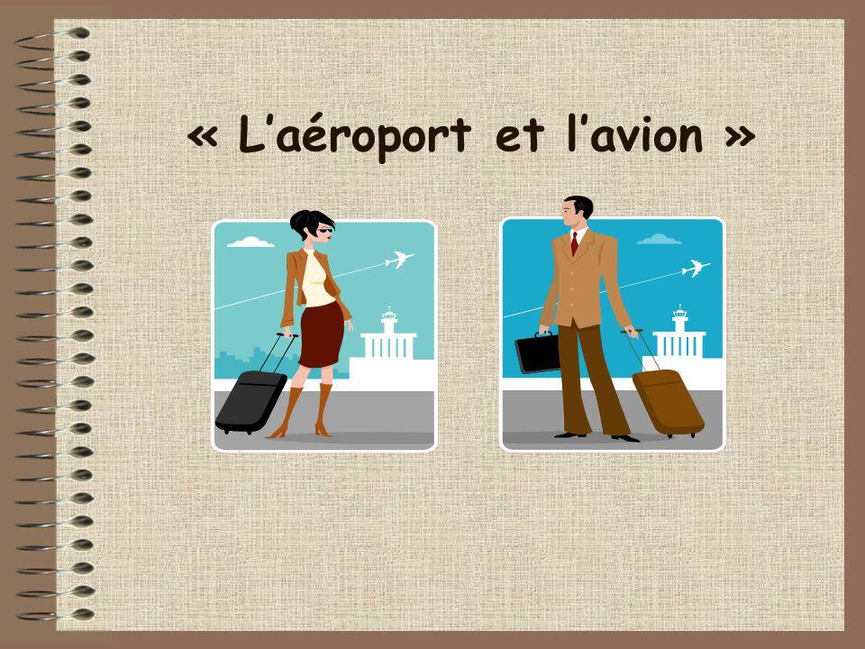la passagère une valise Un bagage à main le passager une carte dembarquement un billet un passeport Mots 1: À laéroport