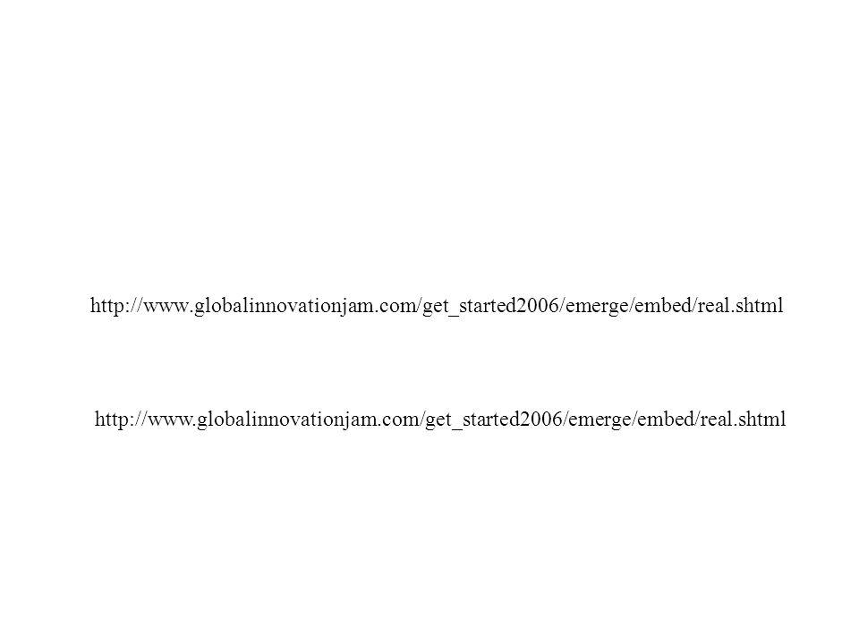 http://www.globalinnovationjam.com/get_started2006/emerge/embed/real.shtml