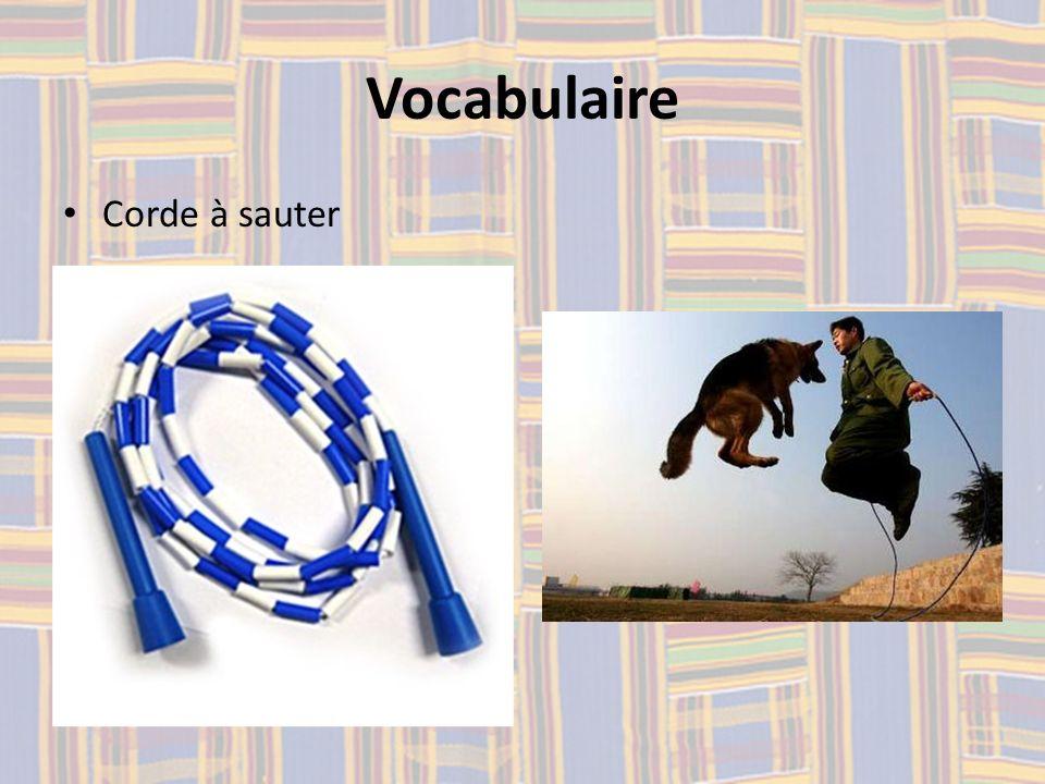 Vocabulaire Corde à sauter