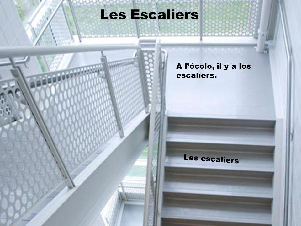 Les Escaliers A lécole, il y a les escaliers. Les escaliers