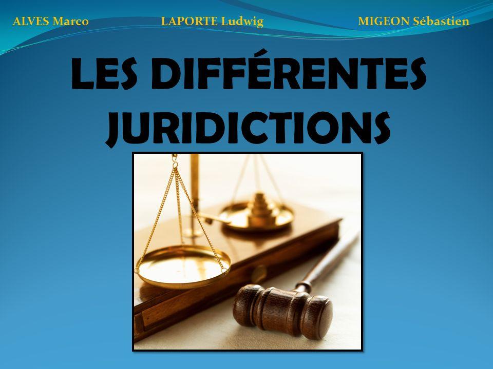 Les différents ordres de juridictions JUDICIAIREADMINISTRATIF