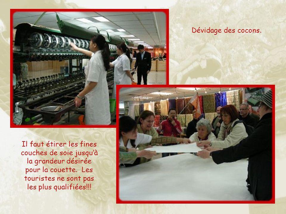 Nous visiterons deux ateliers de production artisanale : soie et cloisonné.