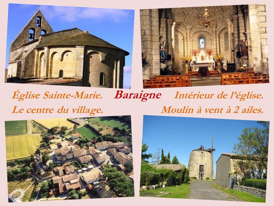 Saint-Papoul le village et léglise