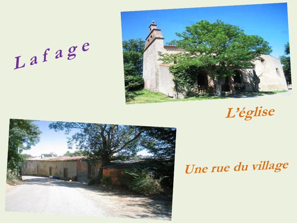 Aigues-Vives Le village, vue aérienne