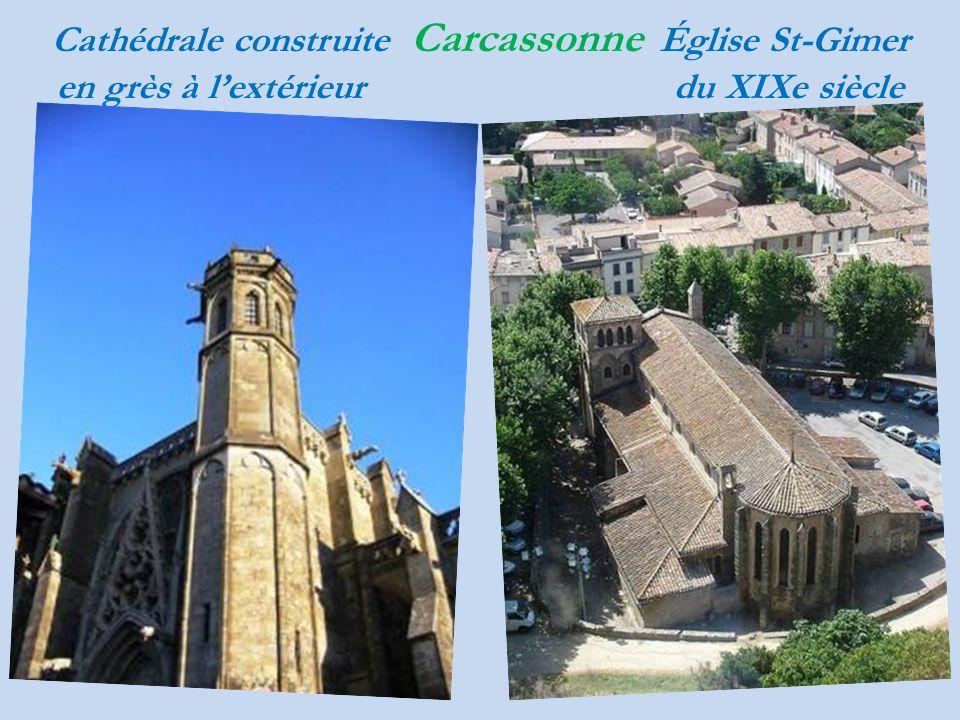 Cathédrale construite Carcassonne Église St-Gimer en grès à lextérieur du XIXe siècle