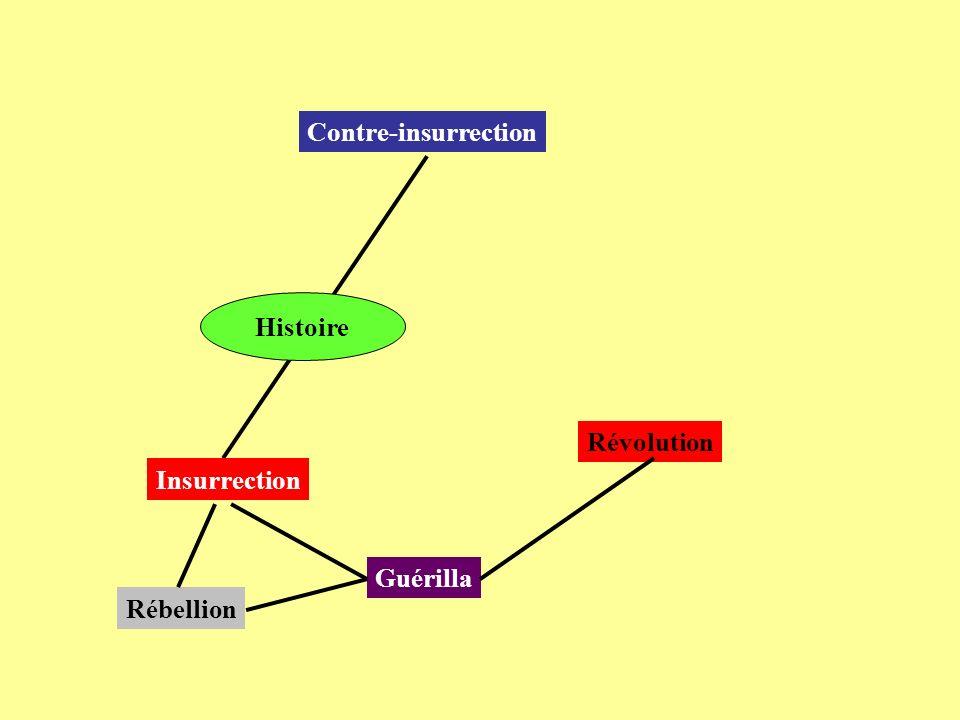 Contre-insurrection Insurrection Guérilla Révolution Histoire Rébellion