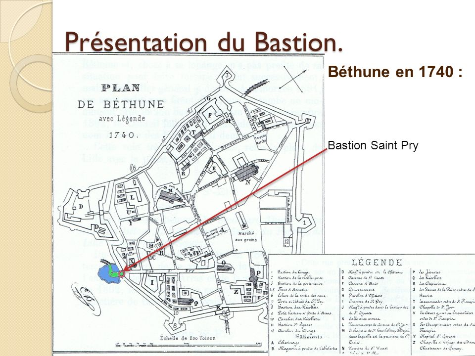 Présentation du Bastion.Le Bastion et la porte Saint-Pry.