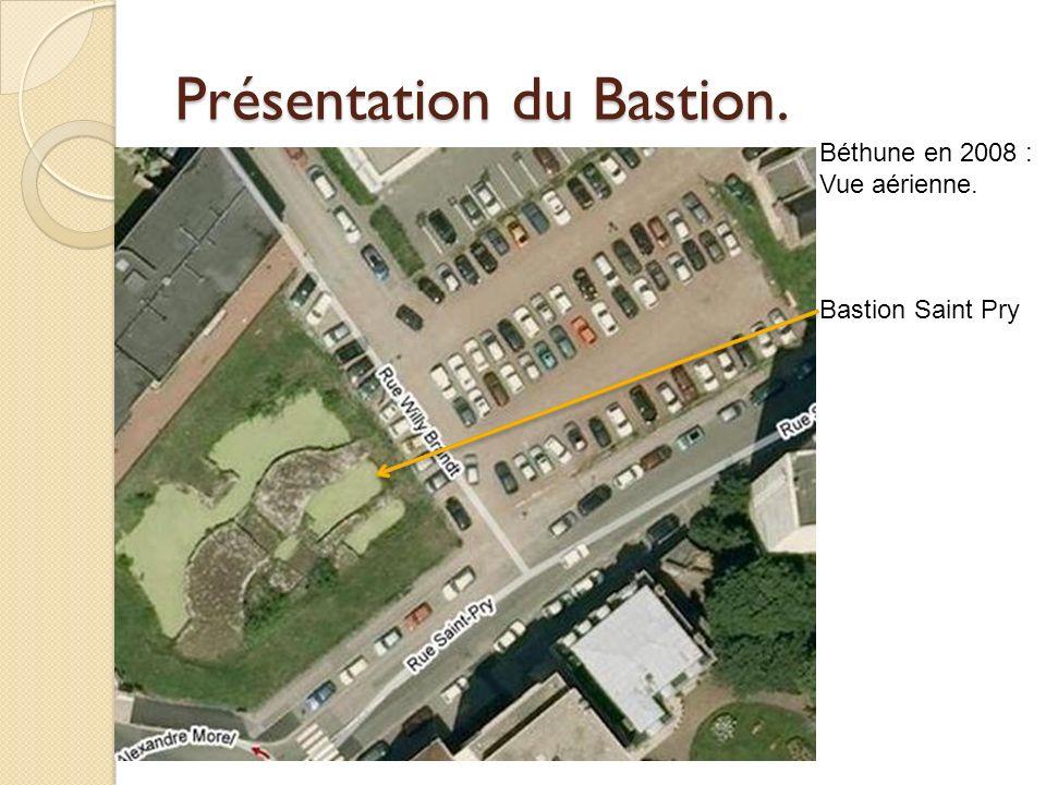 Présentation du Bastion. Béthune en 2008 : Vue aérienne. Bastion Saint Pry