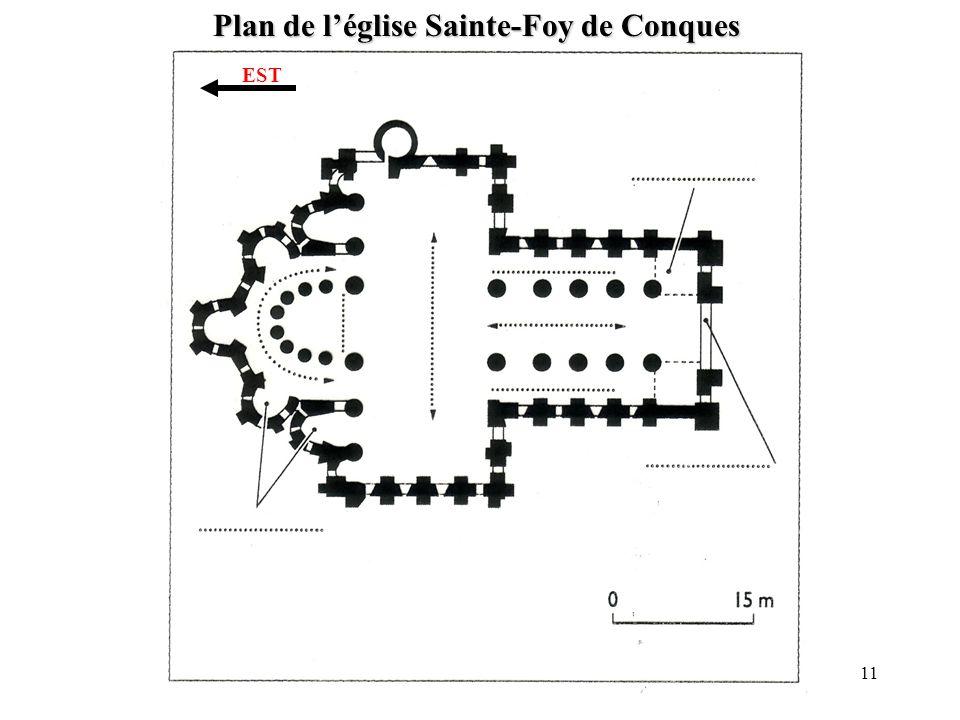 Plan de léglise Sainte-Foy de Conques EST 11