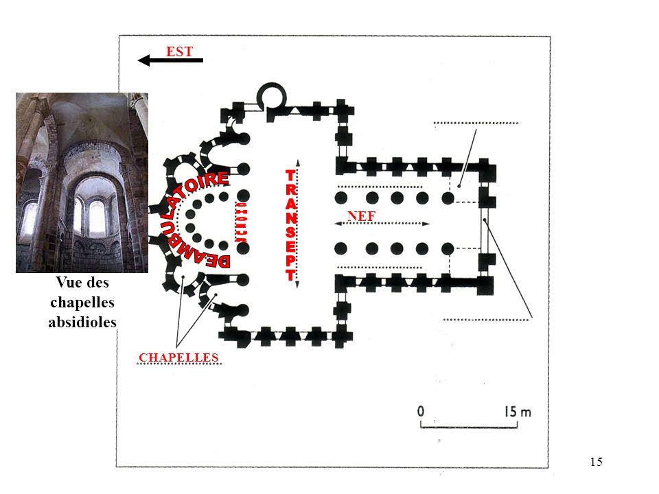 NEF CHAPELLES EST Vue des chapelles absidioles 15
