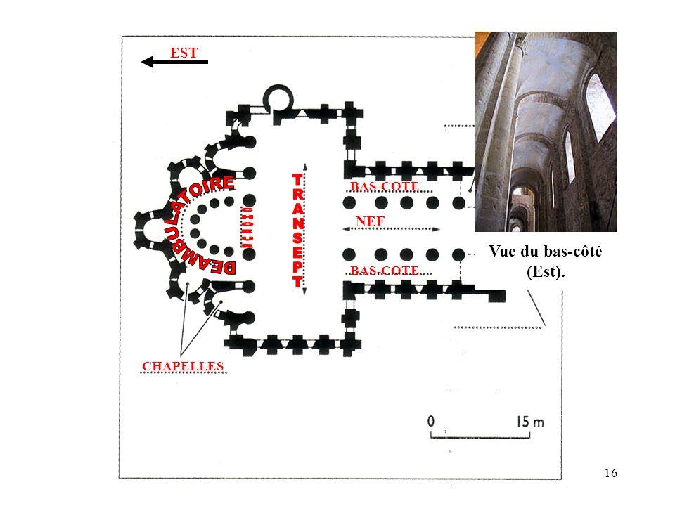 BAS-COTE NEF CHAPELLES EST Vue du bas-côté (Est). 16