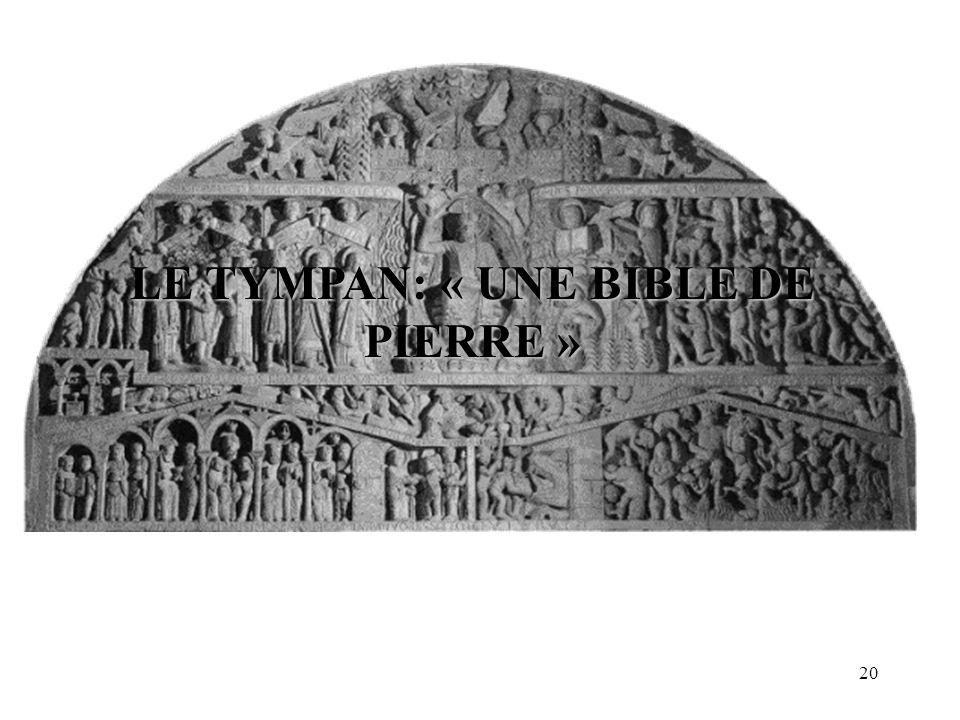 LE TYMPAN: « UNE BIBLE DE PIERRE » 20