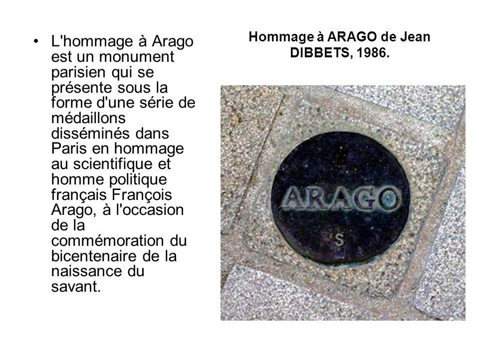 134 de ces médaillons sont donc placés sur le tracé du méridien de Paris, du Nord au Sud de Paris, et sont incrustés dans le sol, tandis qu un dernier médaillon est scellé à la verticale sur le socle de l ancienne statue de François Arago.