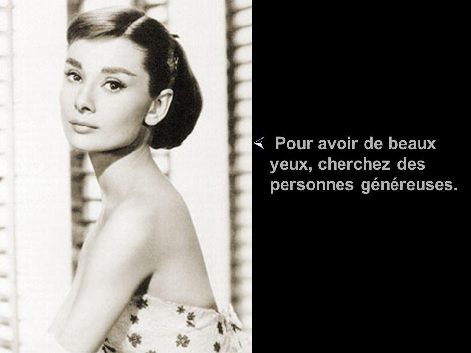 Les phrases suivantes ont été écrites par Audrey Hepburn, à qui on avait demandé de partager ses secrets de beauté.