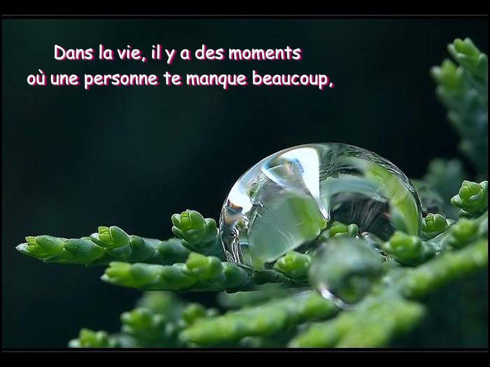 Dans la vie, il y a des moments où une personne te manque beaucoup, Dans la vie, il y a des moments où une personne te manque beaucoup,