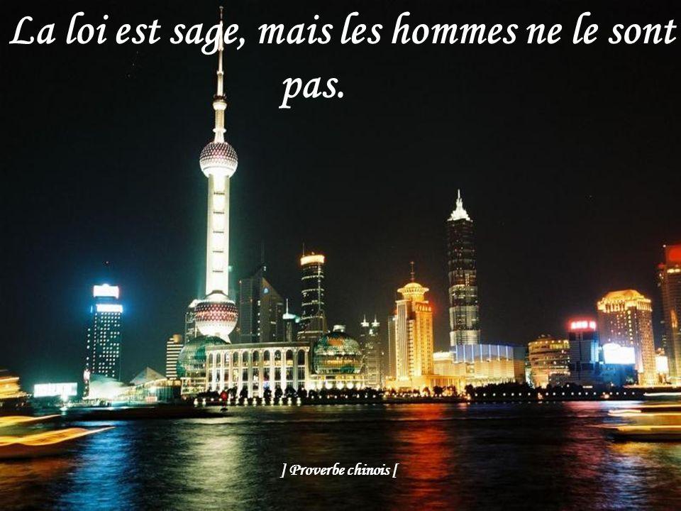 Ne vous mettez pas en avant, mais ne restez pas en arrière. ] Proverbe chinois [