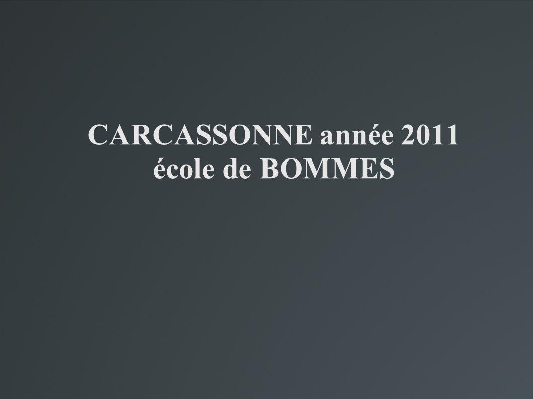 CARCASSONNE année 2011 école de BOMMES