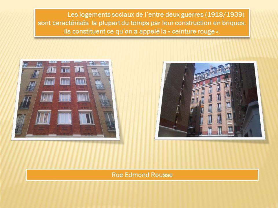 Les logements sociaux de lentre deux guerres (1918/1939) sont caractérisés la plupart du temps par leur construction en briques.