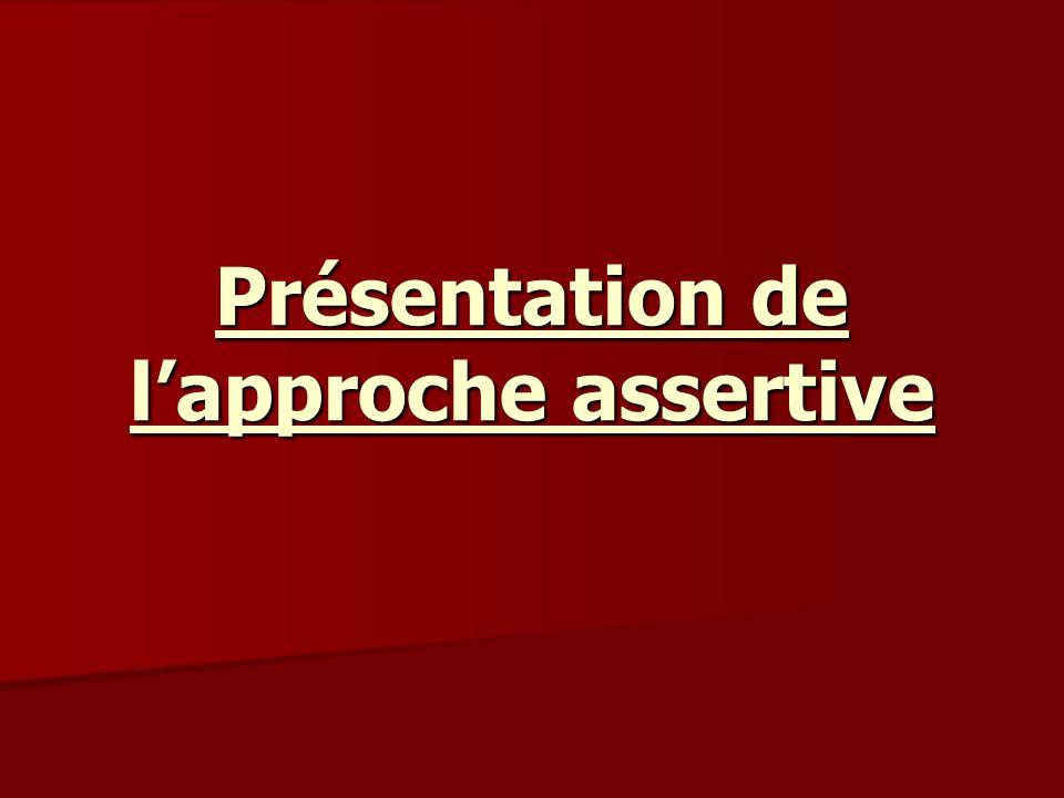 Présentation de lapproche assertive