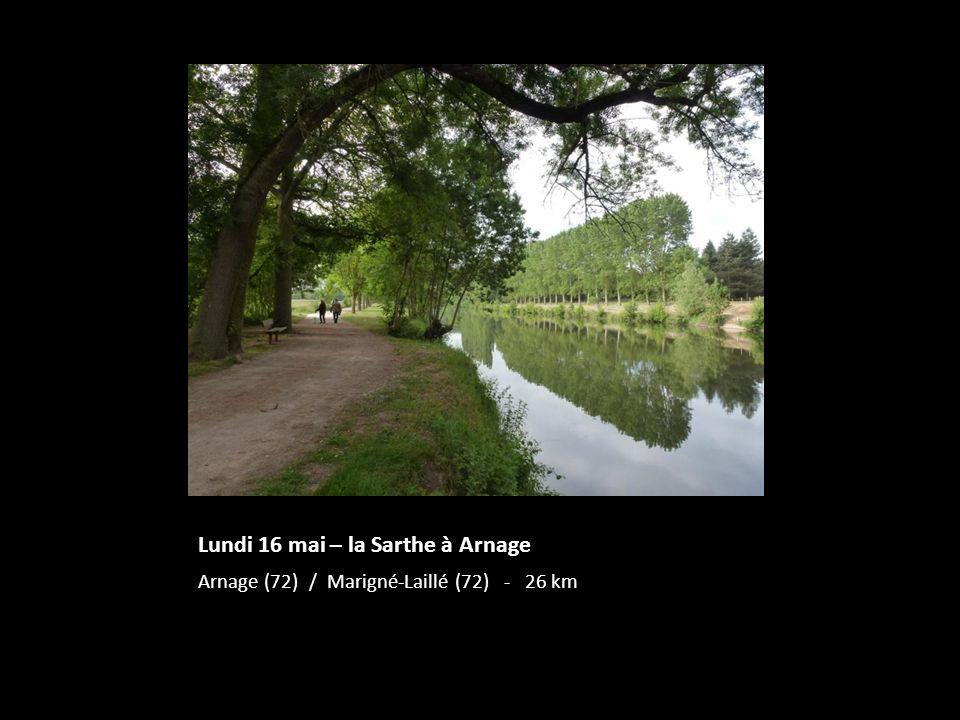 Lundi 16 mai – la Sarthe à Arnage Arnage (72) / Marigné-Laillé (72) - 26 km