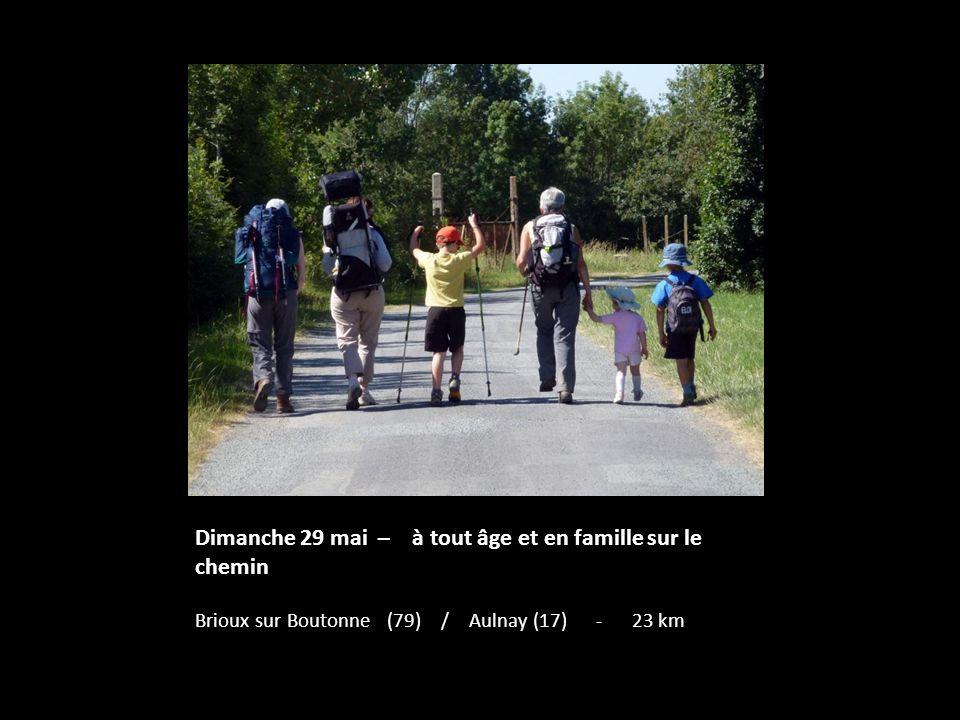Dimanche 29 mai – à tout âge et en famille sur le chemin Brioux sur Boutonne (79) / Aulnay (17) - 23 km