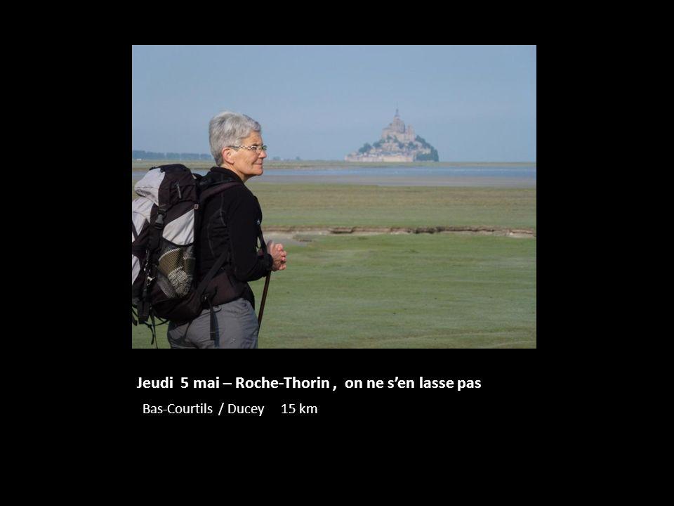 Jeudi 5 mai – Roche-Thorin, on ne sen lasse pas Bas-Courtils / Ducey 15 km